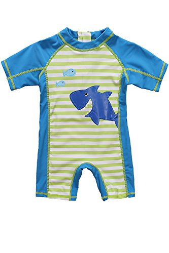 CharmLeaks Sunsafe Swimwear Baby Boys uv Protect Toddler one Piece Swimming Costume ()