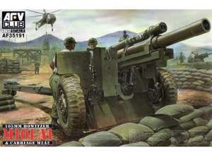 (105mm Howitzer M101A1 Gun w/M2A2 Carriage 1/35 AFV Club)