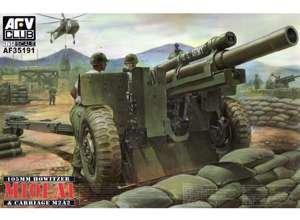 105mm Howitzer M101A1 Gun w/M2A2 Carriage 1/35 AFV Club