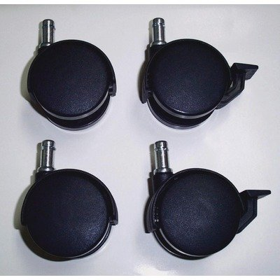 Ecr4kids - Adjustable Base Kiddie Kot Locking (2) , Non-locking (2) Caster 4 Pc Set -