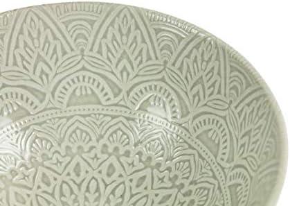 Villa dEste Home Tivoli 5903245 Baku Ensaladera 25 cm blanco//gris porcelana