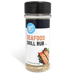 Well-Being-Matters 41crujePFXL._SS300_ Amazon Brand - Happy Belly Seafood Grill Rub, 4.5 Ounces