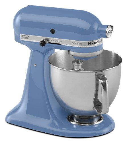 Brand New Kitchenaid Stand Mixer tilt 5-Quart ksm150psco Artisan 10-sp Cornflower (Kitchenaid Stand Mixer Meat Grinder)