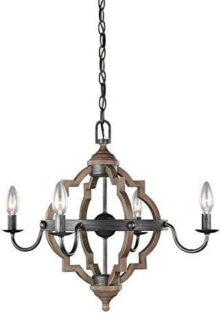 Sea Gull Lighting 3124904-846 Socorro Four Light Chandelier, Stardust Finish