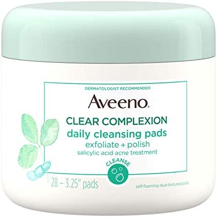 Facial Cleansing Wipes: Aveeno Clear Complexion Daily Cleansing Pads