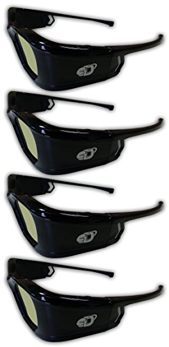 41crv7tlGWL - SAMSUNG 4 PACK Compatible eDimensional RECHARGEABLE 3D Glasses for 2011-15 Bluetooth 3D TV's