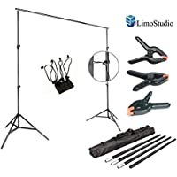 LimoStudio Photo Video Studio 10Ft Adjustable Muslin Background Backdrop Support System Stand