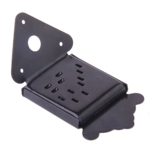 TOOGOO(R) Black Zinc Alloy Tailpiece with Cover for Mandolin 62 x42mm