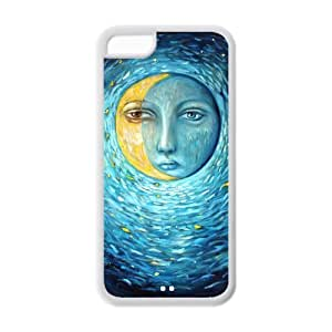 LJF phone case Crescent Moon iphone 6 4.7 inch Case, Customize Crescent Moon Case for iphone 6 4.7 inch