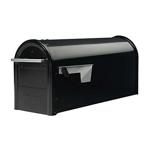 (Gibraltar Mailboxes Franklin Medium Capacity Galvanized Steel Black, Post-Mount Mailbox, FM110B00)