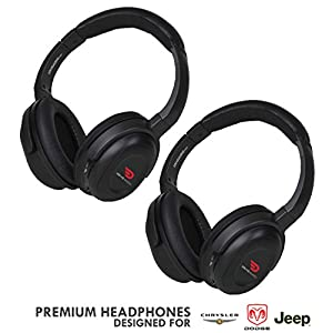 Compatible uConnect VES Wireless Headphones by DriveAudio for Dodge Grand Caravan & Chrysler Town & Country & Jeep (2 Pack) OEM Car Headsets 2006 2007 2011 2012 2013 2014 2015 2016 2017 2018 2019