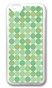 iPhone 6 Case,VUTTOO iPhone 6 Cover With Photo: Green Dots For Apple iPhone 6 4.7Inch - TPU Transparent