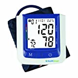 HealthSmart Premium Talking Automatic Digital Blood Pressure Monitor, Bilingual, Blue