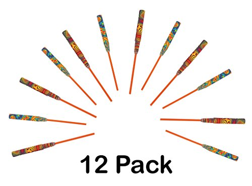 Colorful Chinese Paper Yo-Yos – Pack Of 12 – Paper Extends To 50″, Stick Is 6& ...
