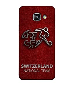 ColorKing Football Switzerland 09 Red shell case cover for Samsung A7 2016