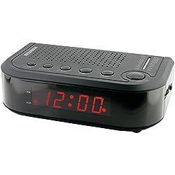 Home Alarm Clock Radio, Sylvania Scr1388 Black Digital Alarm Radio Clock