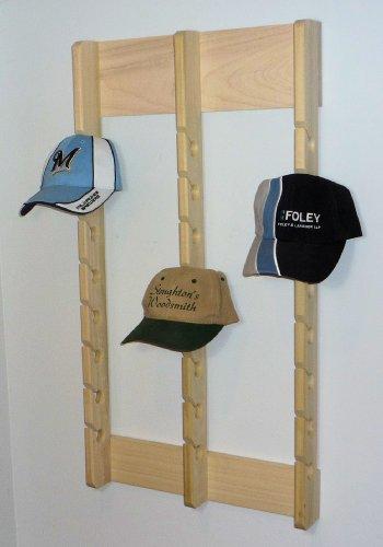 (Stoughton's Woodsmith Economy Triple Poplar Baseball Cap Rack for 24 Caps )