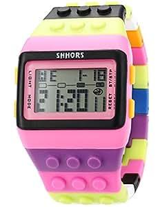 AMPM24 LED088 - Reloj Digital Unisex, Correa de Goma, Multicolor, LED, Deportivo