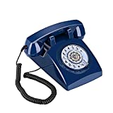Sangyn Rotary Dial 1960's Classic Old Fashioned Retro Vintage Bell DeskTelephone,Blue