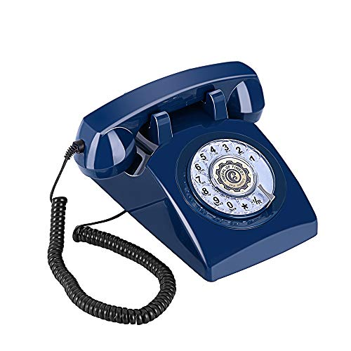 Sangyn Rotary Dial 1960's Classic Old Fashioned Retro Vintage Bell DeskTelephone,Blue by Sangyn