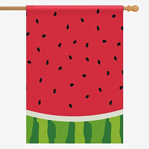 InterestPrint Watercolor Watermelon Slices Funny Fruit House Flag House Banner, Decorative Yard Flag for Wishing Party Home Outdoor Decor, Oxford Cloth 28