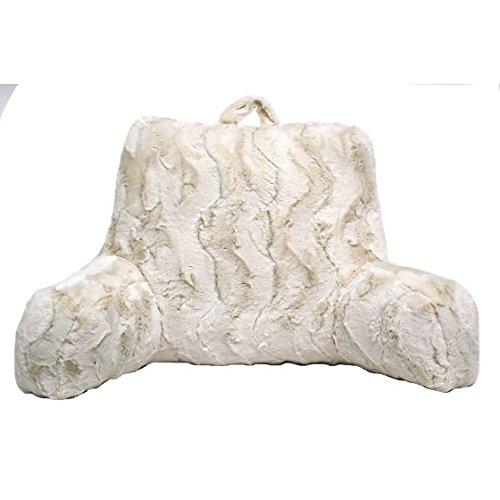 Better Homes and Gardens Beautyful Soft Faux Fur Backrest Pillow, Ivory