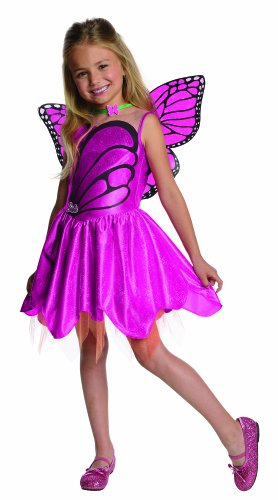 Girls Barbie Costumes (Barbie Fairytopia Mariposa and Her Butterfly Fairy Friends Halloween Sensations Mariposa Costume, Medium)