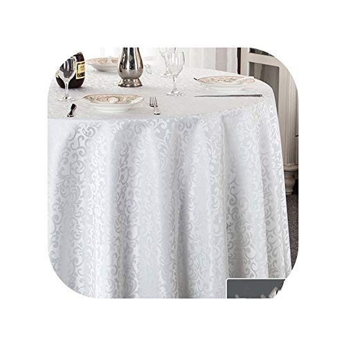Tablecloths Jacquard Printed Tablecloth Rectangular Round Tablecloths Christmas Coat Banquet Party Hotel Weddings ()