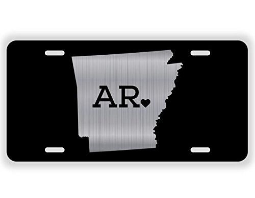 JMM Industries Arkansas State Love AR /♥ Vanity Novelty License Plate Tag Metal 12-Inches by 6-Inches Etched Aluminum UV Resistant ELP047