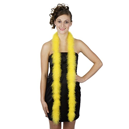Zucker Feather Products 5-H18-Y ZUCKER Marabou Feather Boas Solid Colors - Yellow 6ft long -
