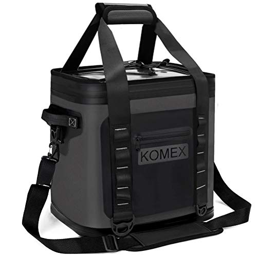 KOMEX Soft Cooler 30 Can Insulated Soft Sided Soft Pack Cooler 72 Hours Long time Insulation ice Leak-Proof with Heavy Duty Leakproof TPU Material for Outdoor Travel,Hiking Beach Parties