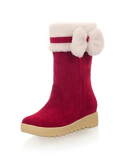 Punta Casual de us8 de 5 eu39 Beige Rojo Vellón Nieve Vestido cn40 brown mujer Botas black us8 Marrón 5 5 Redonda Cuña Botas uk6 XZZ Negro 5 Cuñas cn35 eu36 uk3 5 Zapatos Tacón brown eu39 us5 OR5x0Rzq