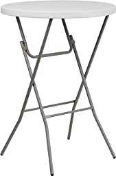 32\'\' Round Granite White Plastic Bar Height Folding Table