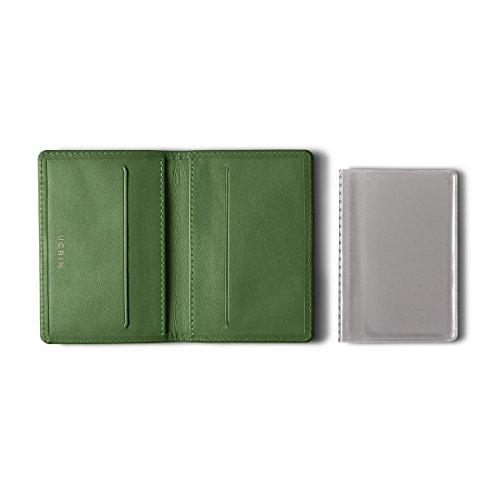 Lucrin - Dünner Kreditkartenhalter - Glattleder Hellgrün