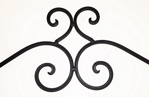 ''ABC Products'' - Wrought Iron Towel Rack - Elegant Scroll Work - Old World Style - Wall Hanging - (Dark Bronze Rustic Finish - Bath or Kitchen by dist by classyjacs (Image #4)