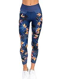 Hujukuludusu Sexy Women's Printed Yoga Leggings Pants Gym Workout Stretch Skinny Sport Trousers