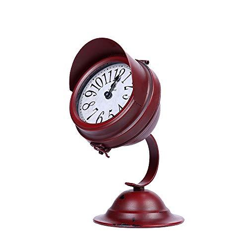 (Wall Clock Small Desk Clock, Vintage Silent Alarm Clock- Non Ticking Quartz Movement Bedside Clock, for Bedroom Living Room Study Room Kitchen)