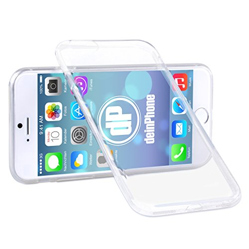 deinPhone iPhone 6 Plus Silikon Case Hülle Ultra Slim 0,3mm Transparent Clear