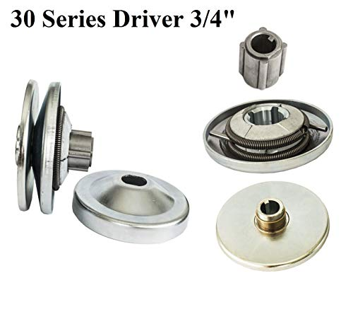 (New 30 Series 6.5 HP Go Kart/Mini Bike Torque Converter Clutch Driver Pulley Replacement Comet Manco 212CC 3/4