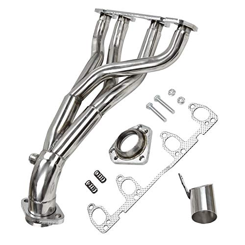 BLACKHORSE-RACING Race Exhaust Header Manifold Stainless Steel 4-2-1 Design for 1986-1999 Volkswagen VW Golf Jetta II III 1.8L/2.0L