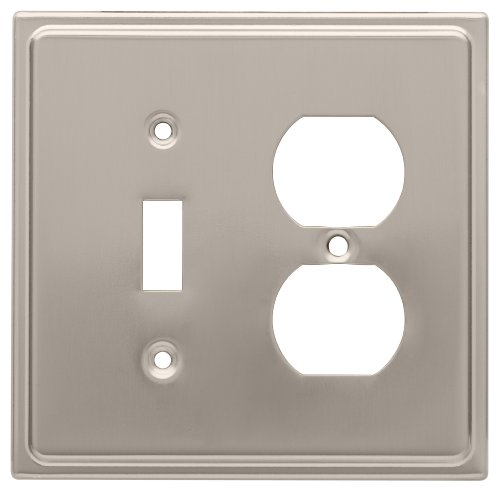 Franklin Brass 126480 Country Fair Toggle Switch and Single Duplex Wall Plate, Satin Nickel