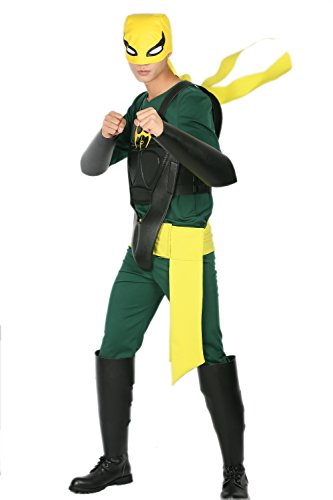 Iron Fist Mask with Costume Suit for Adult Halloween Cosplay M]()