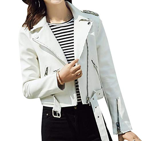Belt Women Coat Leather Fit Trench Multi Zipper with Howme White Classic zwaff