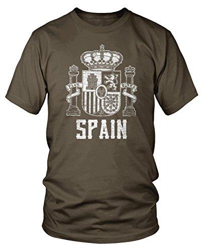 Amdesco Men's Espana Coat of arms, Coat of Arms of Spain T-shirt, Dark Chocolate Large (Coat Of Arms Dark T-shirt)