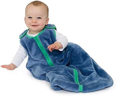 baby deedee Sleep Nest Teddy Baby Sleeping Bag, Fuzzy Dino, Medium (6-18 Months)