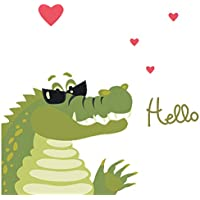 DEKOSH Kids Animal Wall Decal | Alligator Themed Peel &...