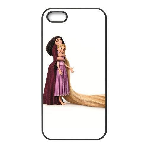 I3N77 emmêlés Gothel de mère et Rapunzel F7Z1DU coque iPhone 4 4s cellule de cas de téléphone couvercle de coque RW6UFW3QI noir
