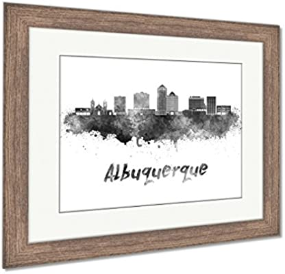 Amazon.com: Ashley Framed Prints Albuquerque Skyline In Watercolor ...