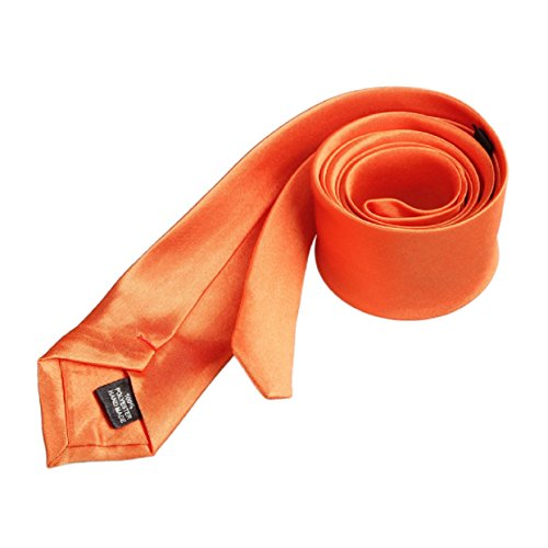 Lowpricenice(TM)Casual Slim Plain Mens Solid Skinny Neck Party Wedding Tie Necktie (Orange) from Lowpricenice(TM)