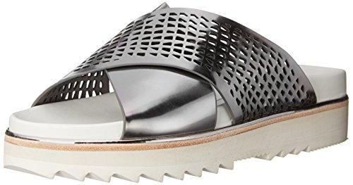 Dolce Vita Womens Shaye Platform Sandal Dark Silver